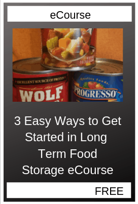 Three Easy Ways to Get Started in Long Term Food Storage
